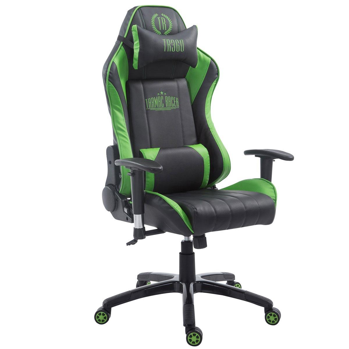fauteuil gamer turbo inclinable coussins cuir noir