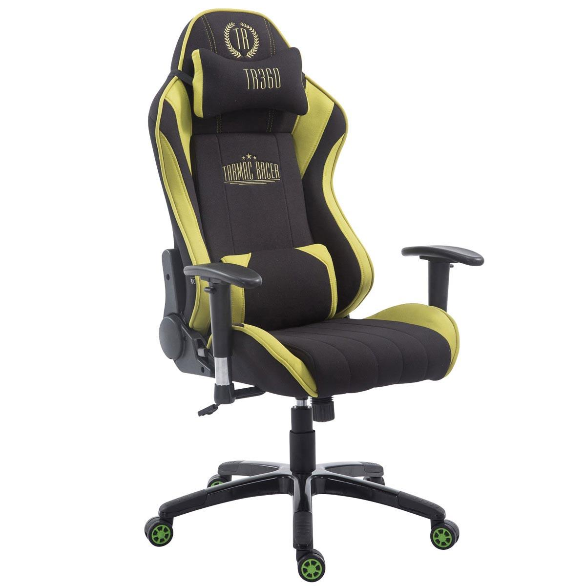 fauteuil gamer turbo tissu inclinable coussins tissu